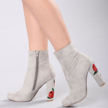 I Got All This Love Heel - Grey
