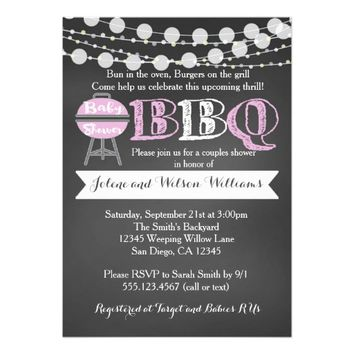BaByQ Couples Baby Shower Girl Invitation