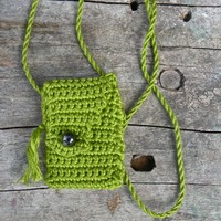 Chartreuse Ruse is a unique, one of a kind, handmade Spirit Pouch