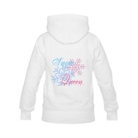 Snow Queen snowflake winter cool chic pink blue Women's Classic Hoodies (Model H07) | ID: D2183387