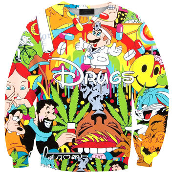 Long Sleeve Print Fashion Pullover Cartoons Stylish Bottoming Shirt Sleeves = 4817584772