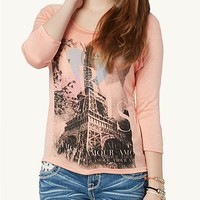 Eiffel Tower High Low Top