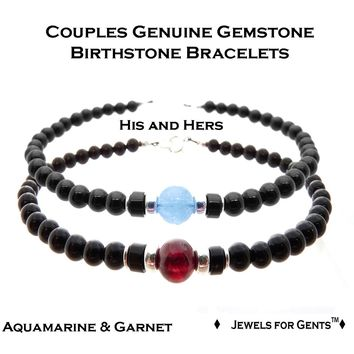 His and Her Couples Bracelet Set, Matching Couple Beaded Friendship Bracelet, Father Son