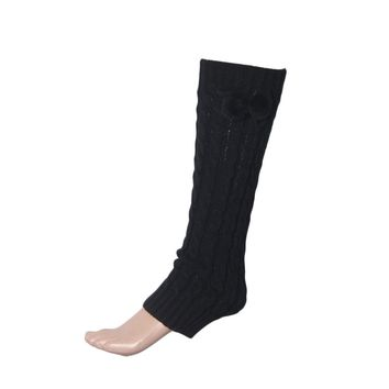 Women Bowknot Boot Cuffs Warmer Chuzzle Knit Leg Sockings Winter warm Leg Warmer over the knee Plush Ball Socks #LYW