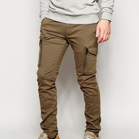 Diesel Chinos Chi-Groove Slim Tapered Fit Cargo Pockets