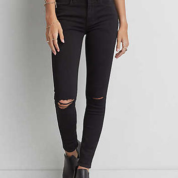 Hi-Rise Jegging, Black Slash