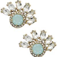 Juicy Couture Gold-Tone Cluster Fan Stud Earrings