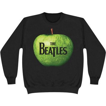 Beatles Men's  Apple Logo Sweatshirt Black Rockabilia