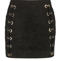 Plus Serena Lace Up Mini Skirt | Boohoo