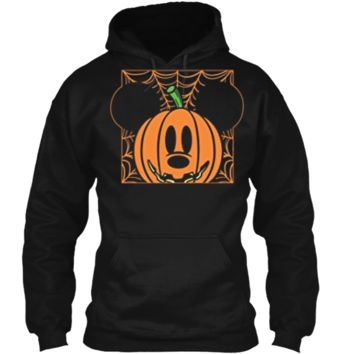 Disney Mickey Mouse Pumpkin Web Halloween Pullover Hoodie 8 oz