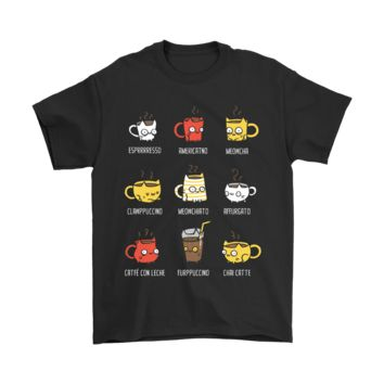 HCXX I Love Coffee Cat Like Cup Shirts