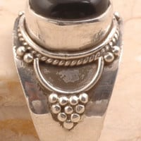 Tremendous Ring in 925 Sterling Silver Black Onyx