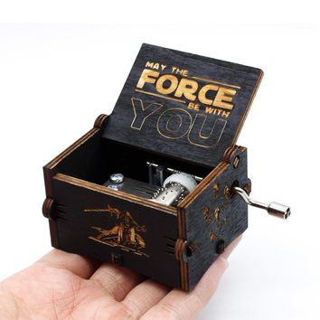 Star Wars Force Episode 1 2 3 4 5 New Black Antique Carved  Music Box  Game Of Thrones Castle In The Sky Music Box  Birthday Christmas Gifts AT_72_6