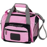 Pink Heavy-Duty Cooler Bag, Insulated Picnic Beach Lunch Box Camp Girl Tote Pack