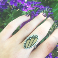 Oval Monarch Ring Size 7