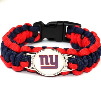 New York Giants Paracord Survival Bracelet American Football Braided Bracelet Football Fans Gift Dropshipping