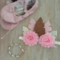 Pink Feather Crown, Baby Feather Crown, Feather Tiara, Feather Crown, Newborn Feather Headband, Gold  Pink Feather Headband