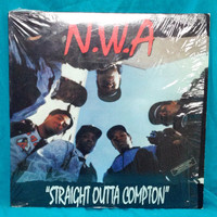 Vintage 80s N.W.A. Straight Outta Compton Ruthless Records Album Vinyl LP