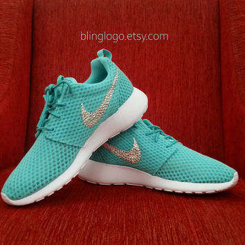 Bling Nike Shoes - Nike Roshe Run Shoes With Swarovski Crystal Rhinestones - Bling Nikes, Bling Shoes, Blinged Out Nikes