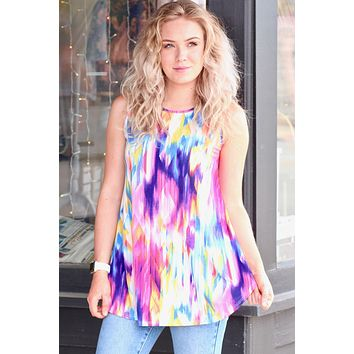 Kaleidoscope Flowy Tank Top