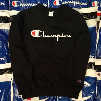 Champion fashion hot thickness sweater shirt Black