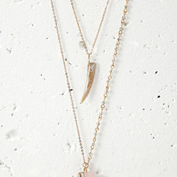 Shell Charm Necklace Set