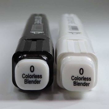 Dual Tips Colorless Blender Marker sketch art Supplies mark pen Alcohol soluble pen cartoon graffiti copic markers