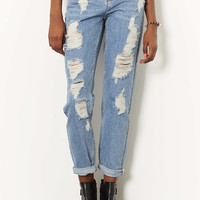 MOTO Ripped High Waisted Jeans - Jeans - Clothing - Topshop USA