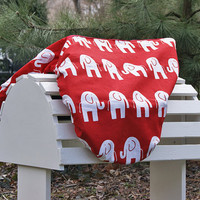 MADE TO ORDER Elephants Saddle Cover Many Colors