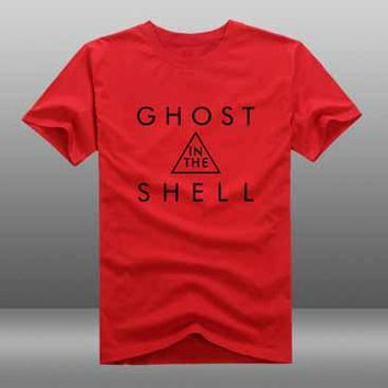 2017 New Film Ghost in the Shell T-shirt Cosplay Anime T-shirt Summer Cotton Short Sleeve Tees