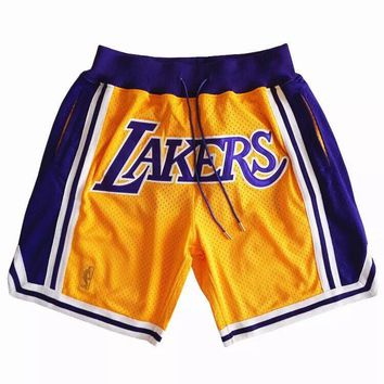 NBA Los Angeles Lakers Just Don Shorts Lebron James Shorts - Best Deal Online
