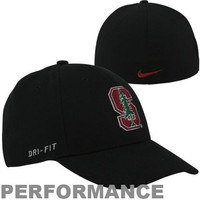 Nike Stanford Cardinal Dri-FIT Swoosh Flex Hat - Black