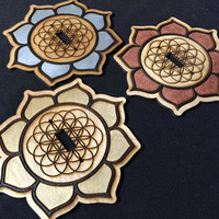 Flower of Life/Lotus Light Switch Cover (Metallic) (1 Piece)