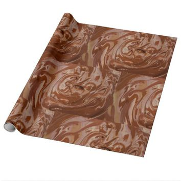 Melted milk chocolatey wrapping paper