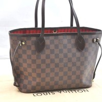 Authentic Louis Vuitton Damier Neverfull PM Tote Bag N51109 LV 36558