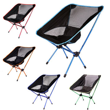 Portable Folding Hiking Camping Stool Chair Seat for Fishing Festival Picnic BBQ Beach with Bag