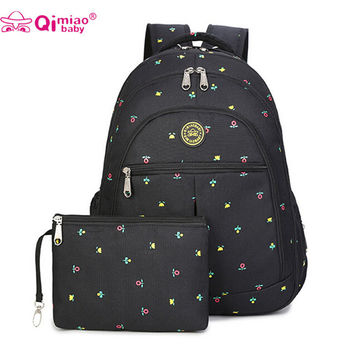 Mummy backpack baby nappy diaper bag shoulder mommy maternity stroller bag  multifunction babies care product 4 piece set