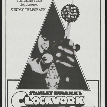 A Clockwork Orange (Australian) 11x17 Movie Poster (1972)