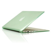 """TopCase Crystal See Thru GREEN Hard Case Cover for Macbook Air 13"""" Model: A1369 and A1466"""