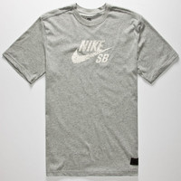Nike Sb Dri-Fit Icon Speckle Mens T-Shirt Heather Grey  In Sizes