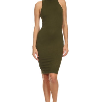 Beverly Bodycon Dress - Olive