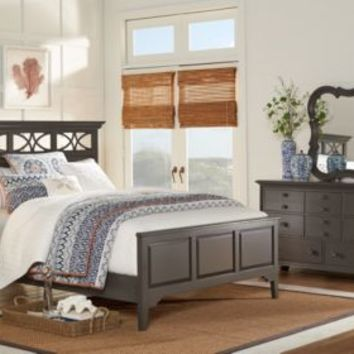 Cindy Crawford Home Seaside Gray 3 Pc Queen Panel Bed - Queen Beds Colors