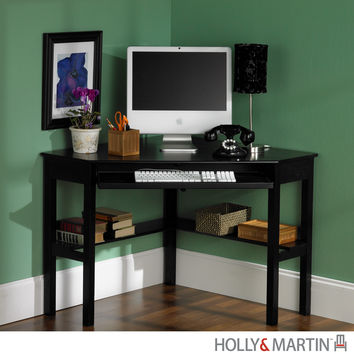 Holly & Martin Alexander Corner Computer Desk-Black