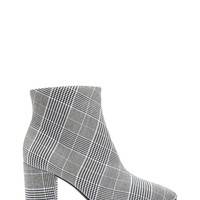 Glen Plaid Ankle Booties