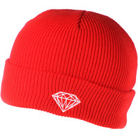 Diamond Supply Brilliant Red Fold Beanie at Zumiez : PDP