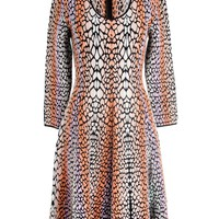 Fendi Animal Jacquard Fit and Flare Dress