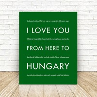 HUNGARY Travel Art Print | Gift Idea | HopSkipJumpPaper