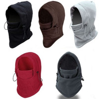 Fashion Ultralight 4 in 1 Winter Warmer Snood Fleece Mens Scarf Hood Neck Full Face Cover Mask Headscarf Sports Motorcycle Windproof Cycling Ski Beanie CS Hat = 1830120068