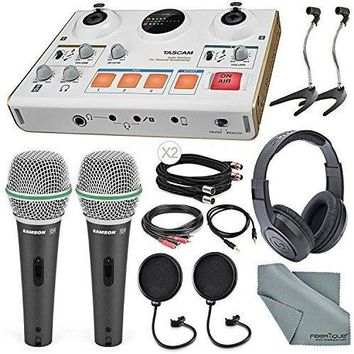 Tascam US-42 MiniStudio Creator Audio Interface for Podcasting W/ Platinum Bundle
