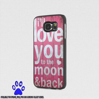 I ll love you to the moon and back pink for iphone 4/4s/5/5s/5c/6/6+, Samsung S3/S4/S5/S6, iPad 2/3/4/Air/Mini, iPod 4/5, Samsung Note 3/4 Case * NP*